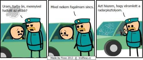 Cyanide & Happiness: A radarpisztoly